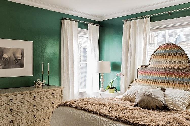 amenajari, interioare, decoratiuni, decor, design interior, stil eclectic, dormitor, verde,