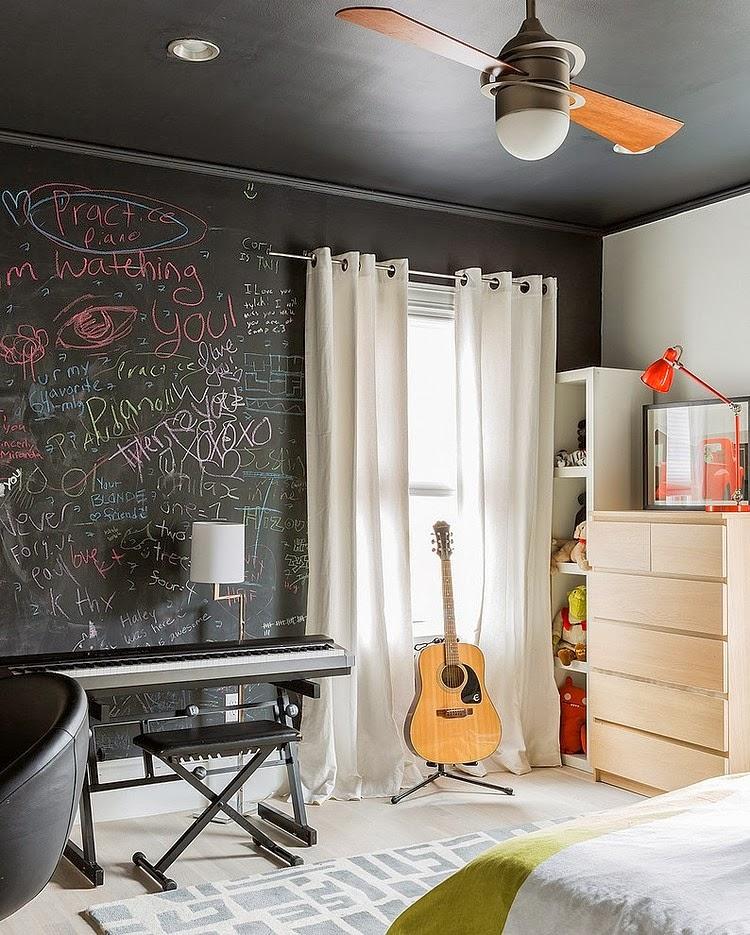 amenajari, interioare, decoratiuni, decor, design interior, stil eclectic, camera copii, negru