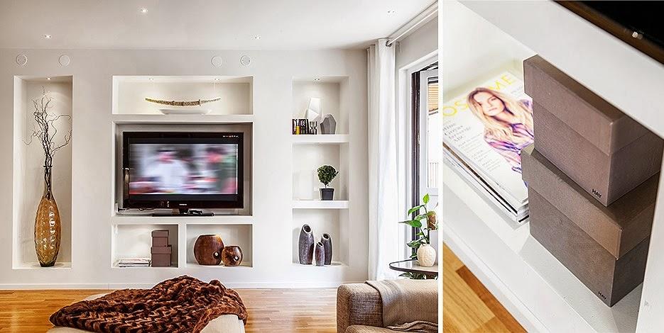 amenajari, interioare, decoratiuni, decor, design interior, stil scandinav, culori neutre, apartament 3 camere, living, televizor