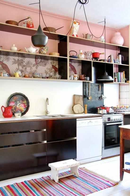 amenajari, interioare, decoratiuni, decor, design interior, pastel, eclectic, bucatarie