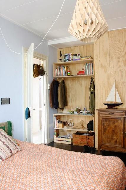 amenajari, interioare, decoratiuni, decor, design interior, pastel, dormitor, dulap deschis