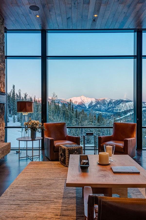 amenajari, interioare, decoratiuni, decor, design interior, cabana, munte, semineu, living