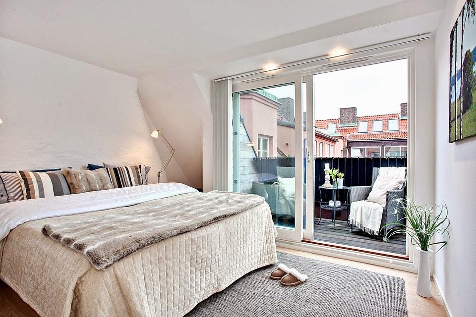 amenajari, interioare, decoratiuni, decor, design interior, penthouse, duplex, dormitor, balcon