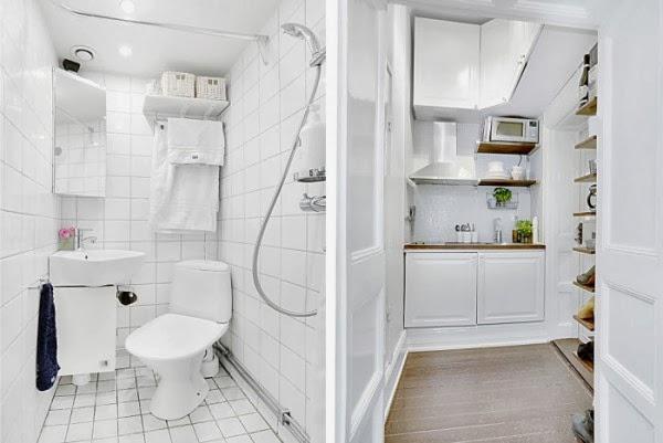 amenajari, interioare, decoratiuni, decor, design interior, garsoniera, alb, baie,