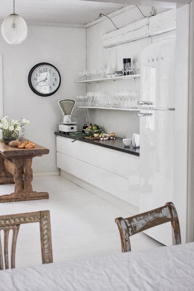 amenajari, interioare, decoratiuni, decor, design interior, shabby chic, scandinav, alb, rustic, bucatarie