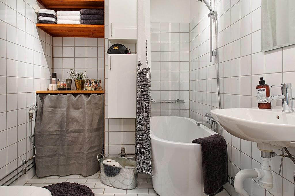 amenajari, interioare, decoratiuni, decor, design interior, mansarda, apartament 3 camere, stil scandinav, baie