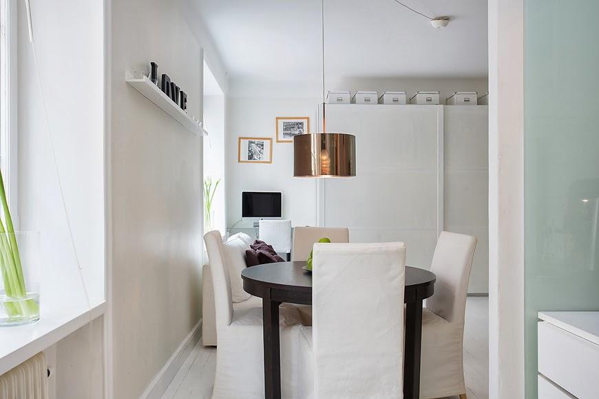 amenajari, interioare, decoratiuni, decor, design interior, garsoniera, spatii mici, scandinav, living, sufragerie