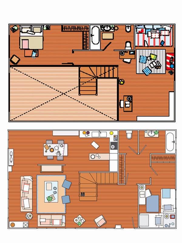 amenajari, interioare, decoratiuni, decor, design interior, rustic, lemn, camera copil, mansarda, plan,