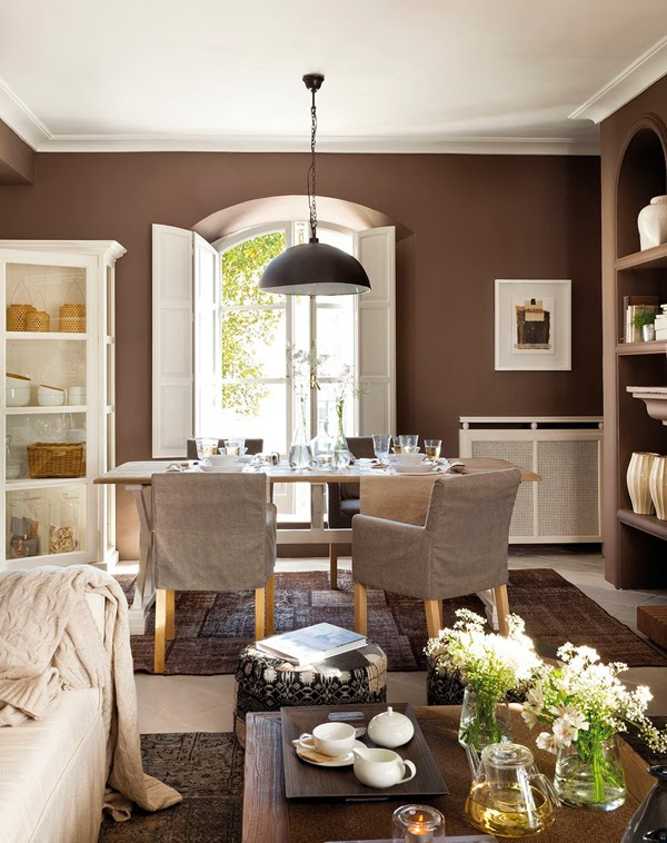 amenajari, interioare, decoratiuni, decor, design interior, interior in maro, gri, verde si rosu, living,