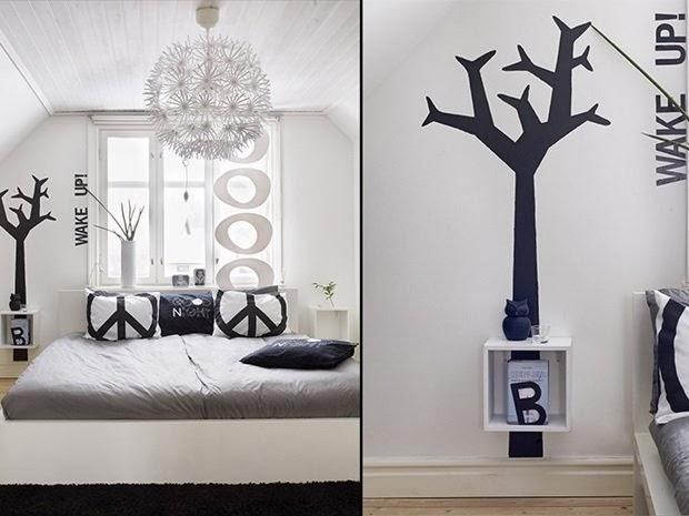 amenajari, interioare, decoratiuni, decor, design interior, stil scandinav, interior amenajat in alb si negru, dormitor