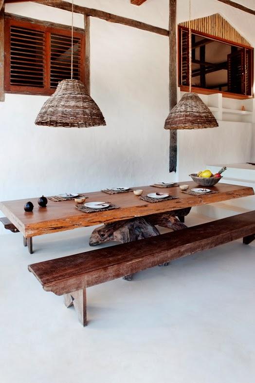 amenajari, interioare, decoratiuni, decor, design interior, casa de vacanta, casa la mare, sufragerie, banci de lemn