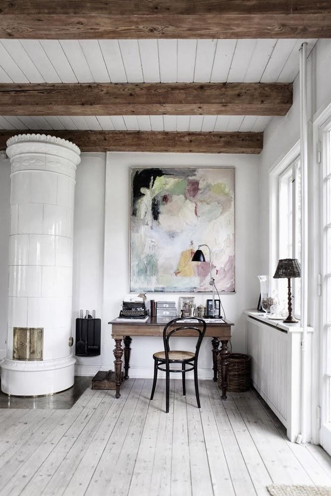 amenajari, interioare, decoratiuni, decor, design interior, rustic scandinav, living , birou, vintage, soba rotunda