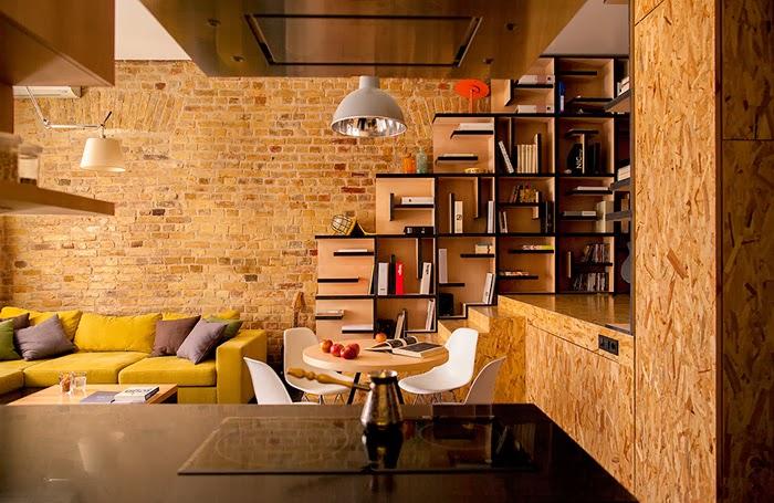 amenajari, interioare, decoratiuni, decor, design interior, apartament de doua camere, biblioteca