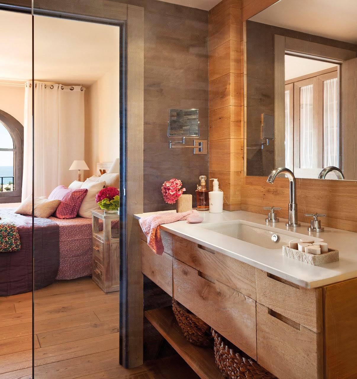 amenajari, interioare, decoratiuni, decor, design interior, casa de vacanta, culori neutre, dormitor , baie
