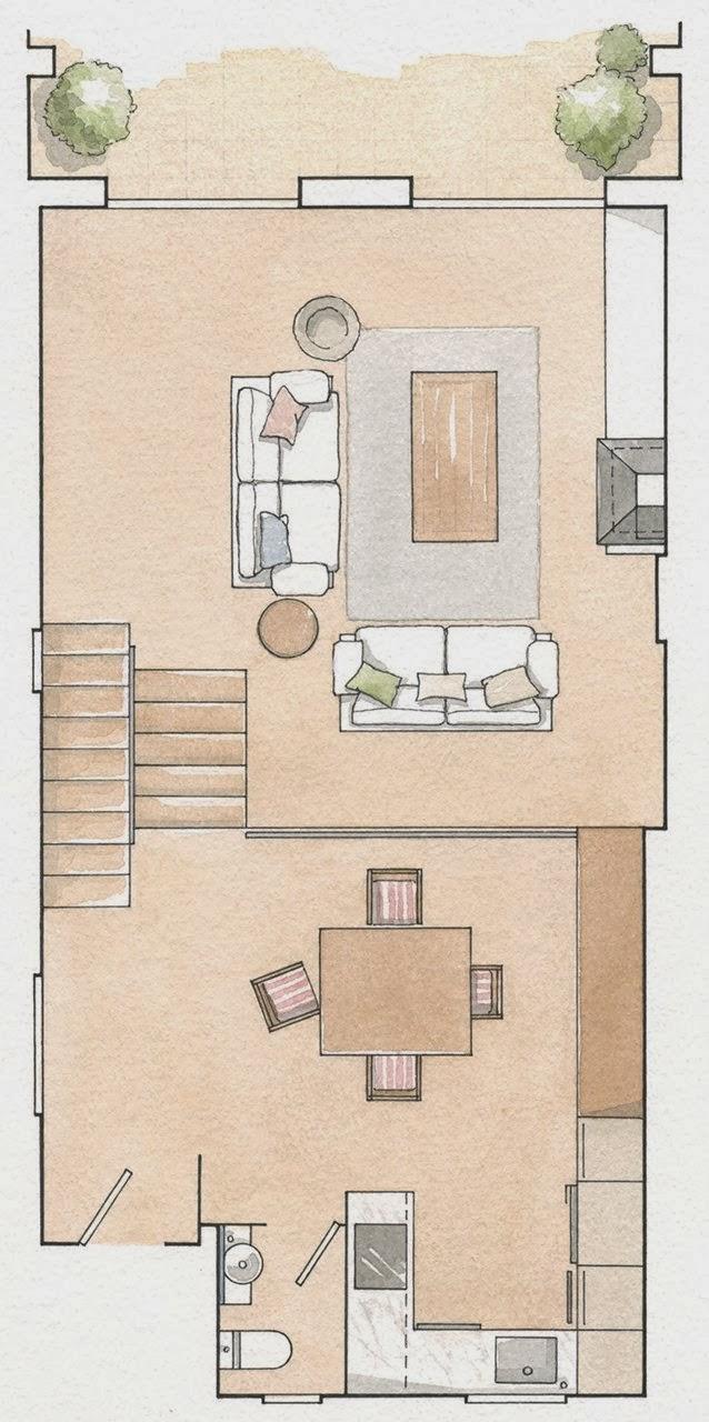 amenajari, interioare, decoratiuni, decor, design interior, casa de vacanta, culori neutre, plan de amenajare