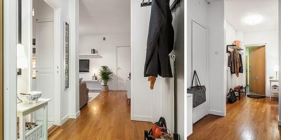 amenajari, interioare, decoratiuni, decor, design interior, stil scandinav, apartament 2 camere, spatii mici, hol
