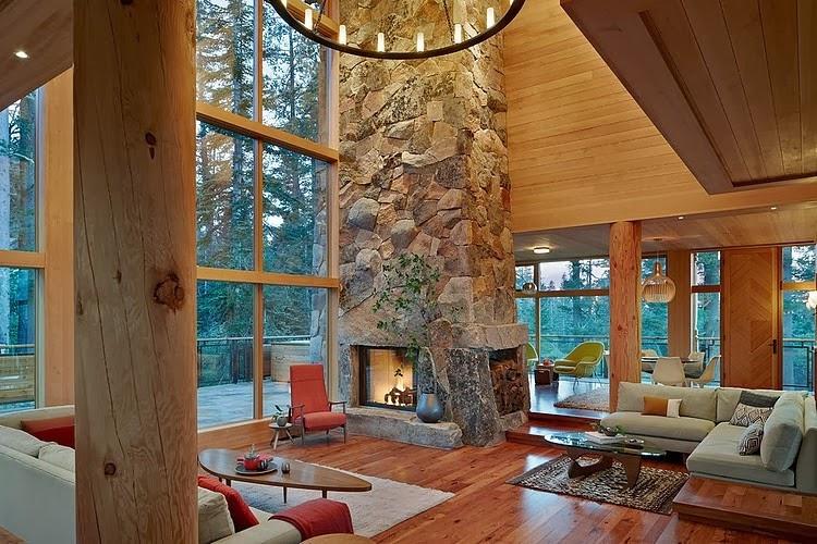 amenajari, interioare, decoratiuni, decor, design interior, vila, casa de vacanta, living, semineu de piatra,