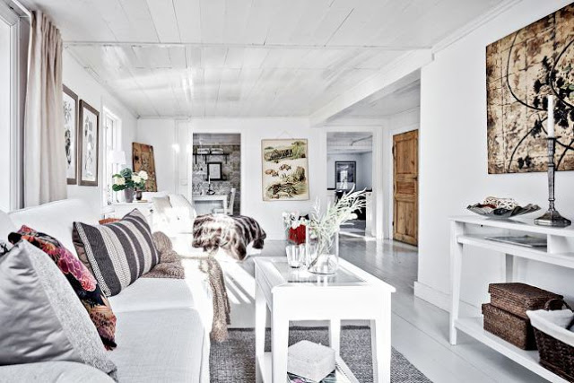 Rustic scandinav într-o vilă din Suedia