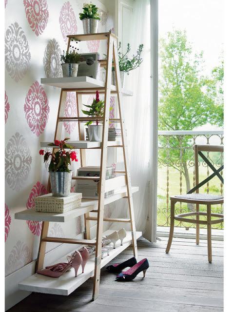 22 de idei de a decora cu ajutoul unei scări