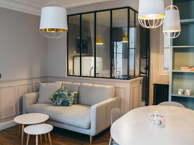 3 camere într-un apartament funcțional de numai 52 m² din Paris