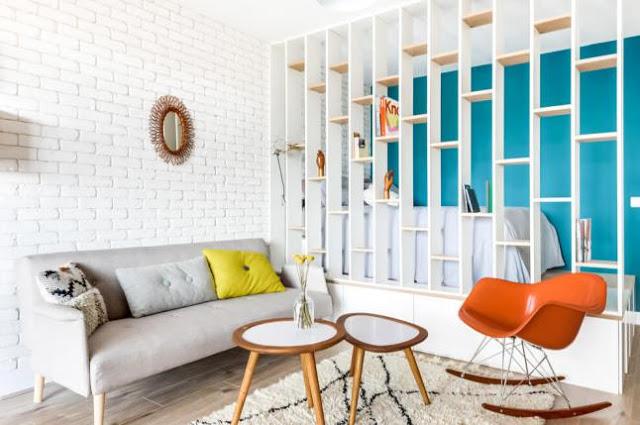Culori vesele într-o garsonieră de 25 m² din Paris