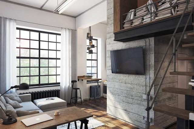 Proiect de amenajare pentru o garsonieră de 30 m²