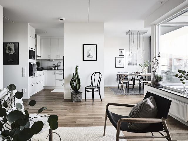 Simplu, scandinav și gri într-un apartament de 67 m²