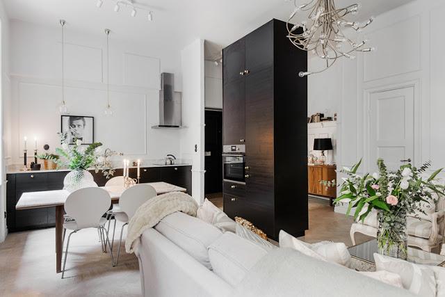 Stil și eleganță într-un apartament de 54 m² din Suedia