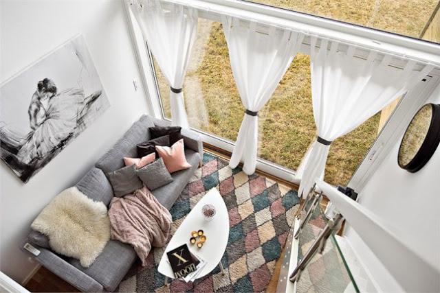 Container transformat într-o mini locuință, de 33 m², practică și modernă
