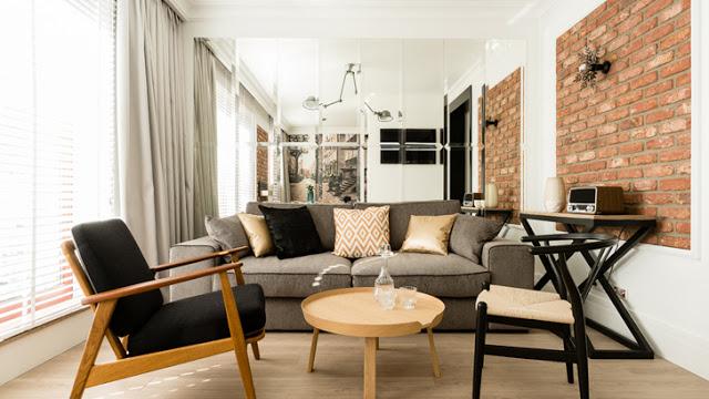 Proiect de amenajare contemporană pentru un apartament de 43 m²