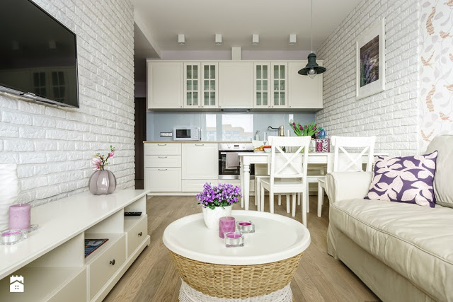 Atmosferă delicată, feminină și primitoare într-un apartament de 2 camere din Gdańsk, Polonia