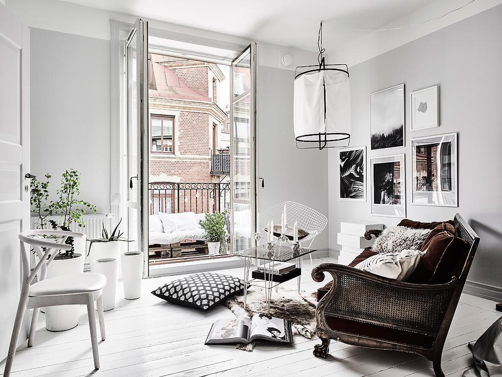 Amenajare boemă și relaxată într-o garsonieră de 50 m²