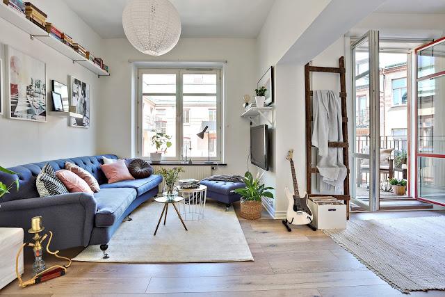 Fără pereți despărțitori într-un apartament de 44 m²