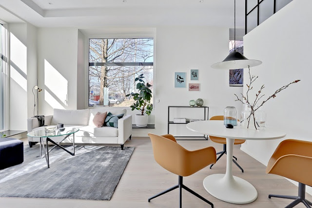 Minimalism scandinav într-un apartament de 50 m²