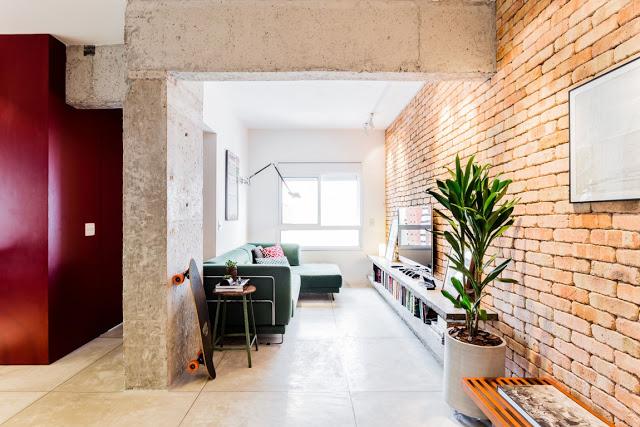 Stil industrial, minimal și modern într-un apartament de 2 camere