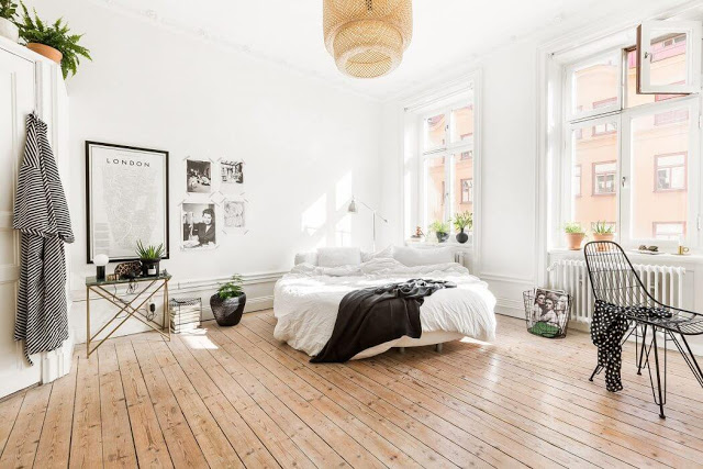 Stil modern și boem într-o garsonieră din Stockholm