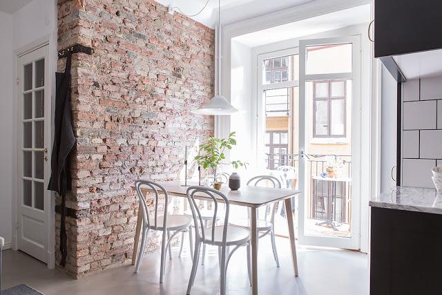 Apartament de 57 m² amenajat în stil scandinav și contemporan