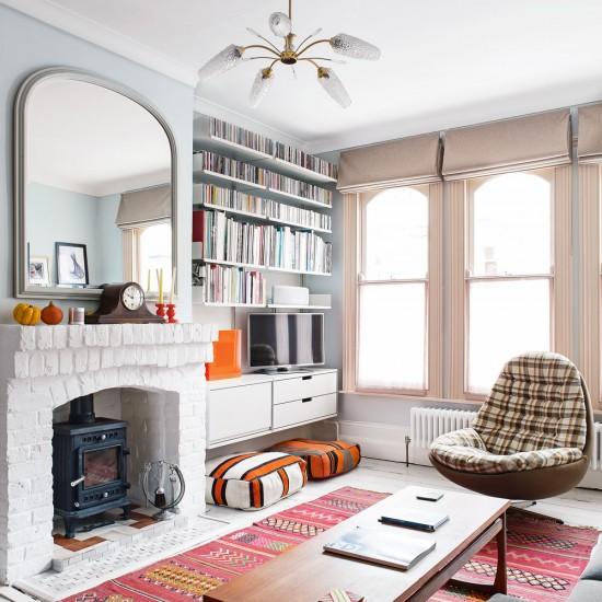 Retro-șic într-o casă din Kent amenajată cu piese de mobilier și accesorii cumpărate la mâna a doua