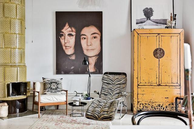 Boem și eclectic într-un apartament 58 m²