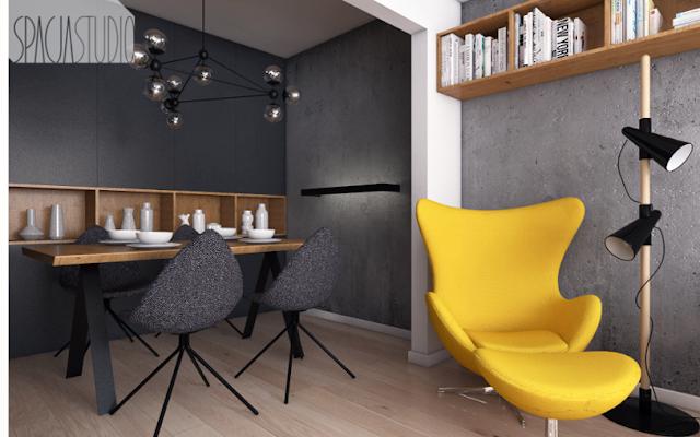 Proiect de amenajare modern pentru un apartament de 52 m² din Polonia