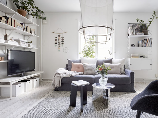 Armonie într-un apartament de 68 m² din Suedia