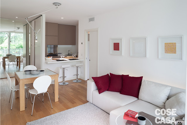 Amenajare simplă, dar practică pentru un apartament de 52 m² din Italia