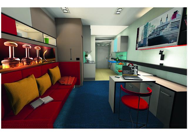 MicroApart 20/30 de la 20 m² la 30 m² cu ajutorul mobilierului modular