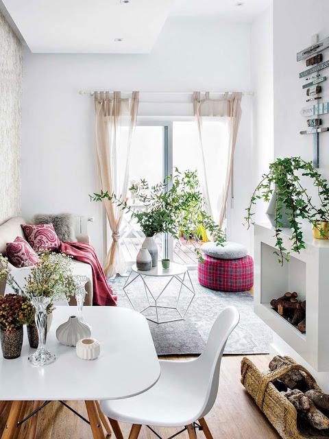 Amenajare practică și veselă într-o garsonieră de 45 m² din Spania