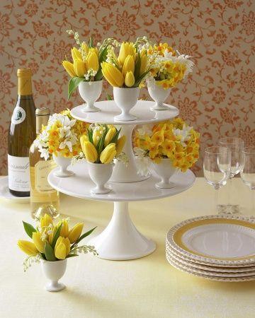 flori pentru masa de paste