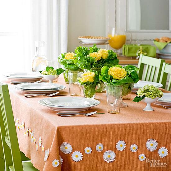 masa de paste in verde si portocaliu