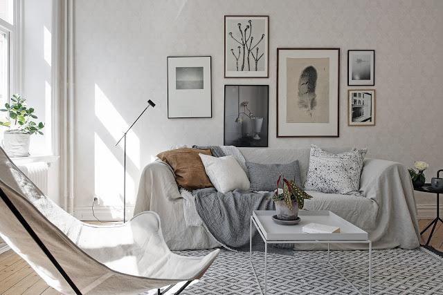 idee de amenajare canapea cu husa