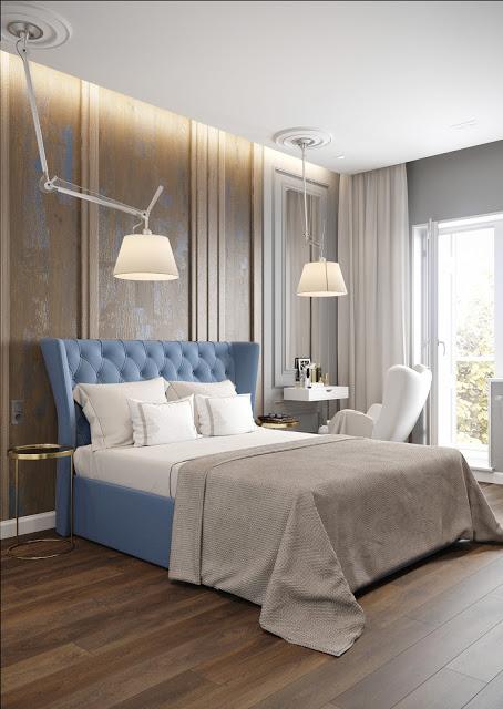 amenajare interioara pentru un dormitor clasic