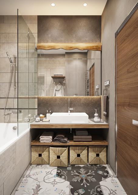 solutie de depozitare pentru baie