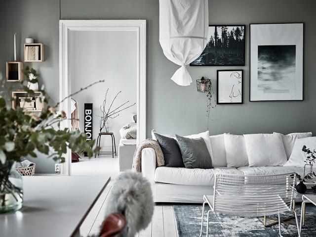 Amenajare modernă și nordică pentru un apartament de 56 m² din Suedia